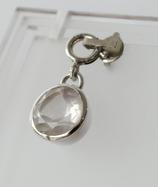 Ref.: 00154 Dije de plata925 y cuarzo Rosa