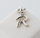 Ref.: 00218  Letras del abecedario en plata925 y zircon