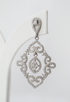 Ref.: 00176 Aretes tipo chandelier en plata925 y zircon