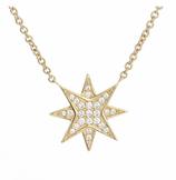 Ref.: 011621. Collar en oro 18k con dije de estrella