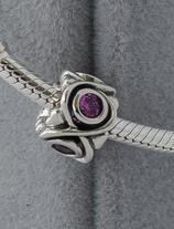 Ref.: 00133 Charm de plata y piedra de amatista