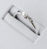 Ref.: 00167 Anillo de plata925, perla y zircon