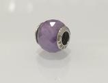 Ref.: 00022 Charm en plata 925 y murano lila