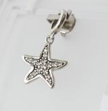 Ref.: 00166 Charm en plata925 y zircon. Estrella de mar