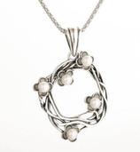 Ref.: 00086 Dije en plata925 y perlas
