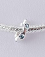 Ref.: 00127  Separador de plata925 y zircon azul