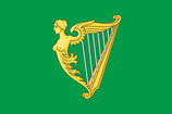 Green Harp of Ireland Flag