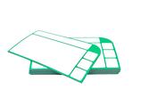 10 magnetische Karten (Version 2) 13,5 x 8cm in 6 verschiedenen Farben