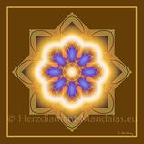 """09 - Mandala-Karte """"Ich habe den göttlichen Schöpfer in mir gefunden"""""""