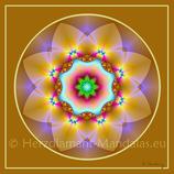"""05 - Mandala-Karte """"Die universelle Liebe erlaubt Dir zu spielen und zu tanzen"""""""