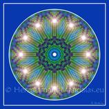 """23 - Mandala-Karte """"Kosmische Lichtwelten haben sich für Dich geöffnet"""""""