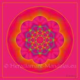"""01 - Mandala-Karte """"Liebe die Schönheit deines Seins"""""""