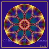 """07 - Mandala-Karte """"Sternenvermählung"""""""