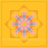 """36 - Mandala-Karte """"Kosmische Lichtfülle ist Dein Erbe"""""""