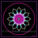 "13 - Mandala-Karte ""Das Auge der universellen Liebe"""