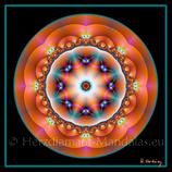 """02 - Mandala-Karte """"Freude aus dem Herzen leben"""""""