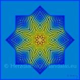 """20 - Mandala-Karte """"Kosmische Liebeswellen durchfließen Dein Sein"""""""