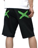 heavy.   iggy shorts BLACK × GREEN  (XSサイズ)(Sサイズ)