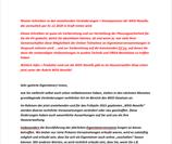 Info-Schreiben WEG-Novelle für Eigentümer