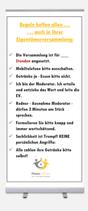 Regeln für die Eigentümerversammlung Roll-Up (Layout)