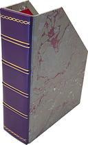 Portariviste in pelle con carta marmorizzata
