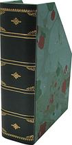 Portariviste in pelle verde con carta marmorizzata