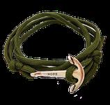 Ankerarmband (dunkelgrün)