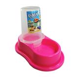 Bebedero Plastico Anti-Hormiga Automatico  (Rosa)