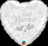 """Folienballon Hochzeit """"Just Married"""" / 45 cm"""