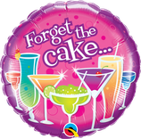 "Folienballon Geburtstag ""Forget the Cake"" / 45cm"