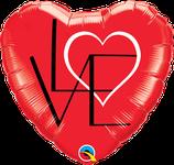 "Folienherz ""LOVE"" / 45cm"