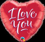 """Folienherz """"I love you"""""""
