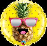"Folienballon ""Ananas mit Sonnenbrille"" / 45 cm"