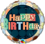 "Folienballon Geburtstag ""Happy Birthday"" mit Punkten"
