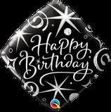 """Folienballon Geburtstag """"Happy Birthday"""" Glitzern und Wirbel"""