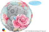 "Folienballon Geburtstag ""Teddy mit Rose"" / 45 cm"