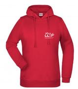 Damen-Hoodie in Rot und Schwarz