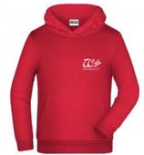 Kinder-Hoodie in Rot und Schwarz
