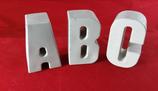Beton, Steinguss Buchstaben