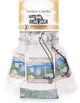 Yankee Candle Clean Cotton Car Jar 3 Pack