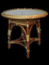 Стол плетеный круглый.