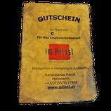 Palast Gutschein auf Pergament Papier