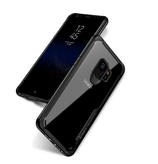 PAKY - Samsung Galaxy S9 Hybrid TPU Bumper Case Hülle Air Cushion Fallschutz - Schwarz / Transparent