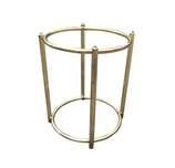 Cylindrical Brass Table Base