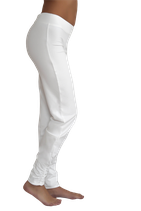 pantalon yoga plissé blanc, Leela Cotton