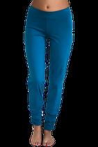 pantalon yoga plissé turquoise, Leela Cotton