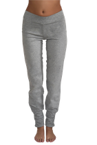 pantalon yoga plissé gris chiné, Leela Cotton