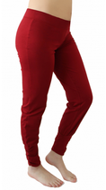 pantalon yoga plissé cerise, Leela Cotton