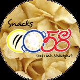 0058 snacks - Prêt à manger salted, smoked flavor