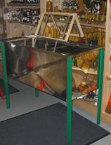 SAF - Entdeckelungstisch aus Edelstahl für 2 Personen